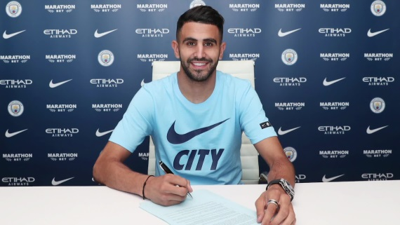 Riyad Mahrez has joined Manchester City