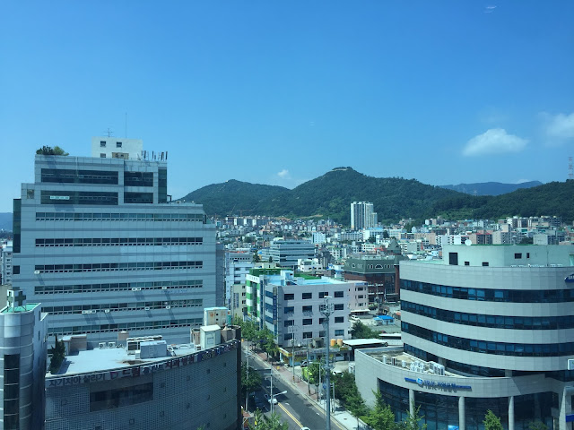 View from the iSquare hotel in Gimhae