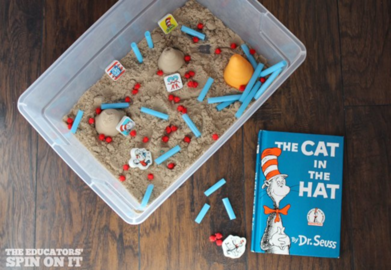Dr Seuss Activities for Toddlers - Cat in the Hat activity