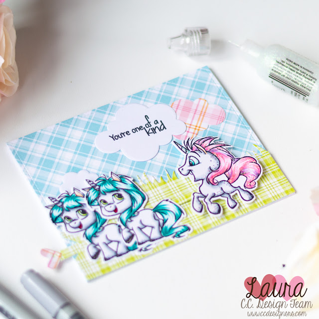 CC Designs Pull Tab Die Step by Step Unicorns Interactive Card (2)