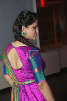 Shilpa Chakravarthy in Purple tight Ethnic Dress ~  Exclusive Celebrities Galleries 002.JPG