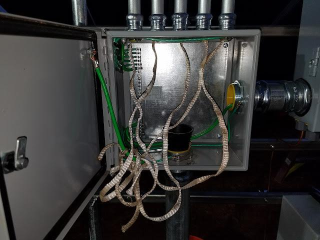 Mount 1 internal wiring pulled Jack\u0027s Solar Ground Mount Journey