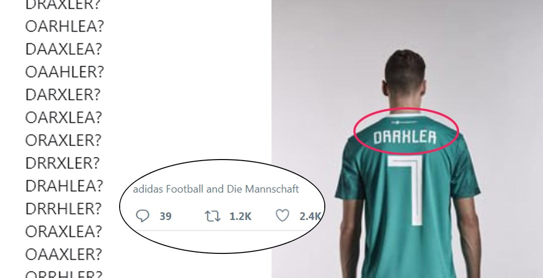 3789c83df77 Adidas 2018 World Cup Font Causes Controversy Again - Footy Headlines