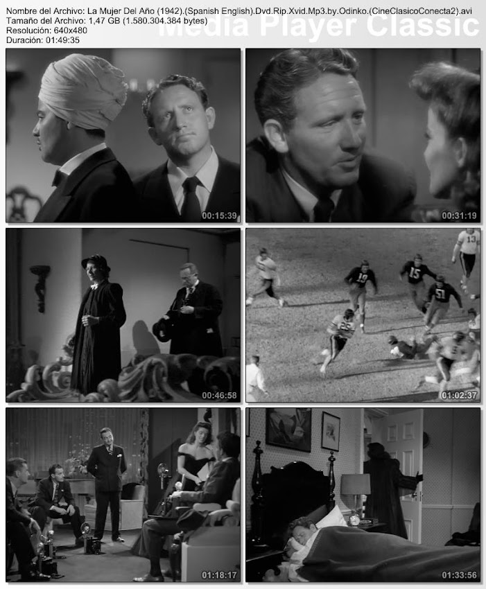 La mujer del año | 1942 | Woman of the Year | Secuencias de la película
