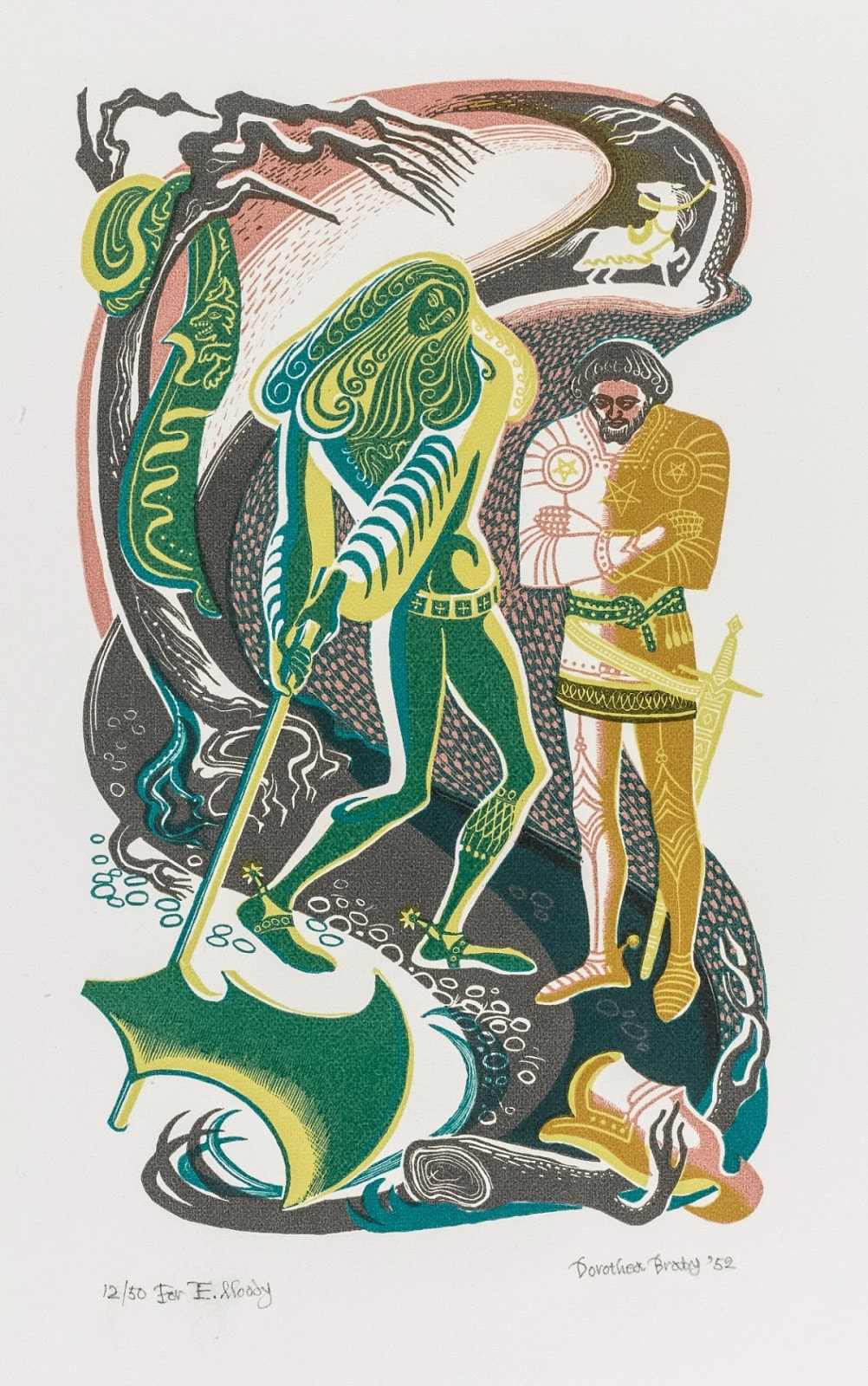 james russell sir gawain the green knight in pictures the moment of truth for gawain dorothea braby golden cockerel press 1952