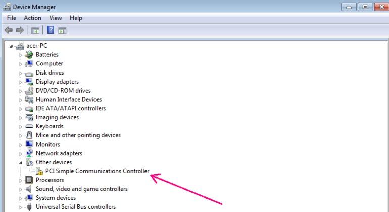 download pci simple communication controller driver windows 7 64 bit