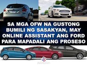 """Renante Bendaña 40, a Sales Support Engineer with a steel construction company in Jeddah, after a  15-hour flight last December, went straight to the Ford Cainta dealership to purchase his first family car, a token for his loved ones after years of working abroad as an OFW. Bendaña first tried his luck abroad in 2005 with his wife Lucy. In 2013, Lucy chose to return home to take care of their two children. Last year, the family decided to purchase a car to help Lucy with the daily grind of being a hands-on mother. Bendaña learned of the Ford OFW Assist Program while browsing for a perfect car for the family.  Reading through the Ford OFW Assist Program, an online and hassle-free process that allows Filipinos working abroad to buy a Ford vehicle in the Philippines.   The Program also offers a flexible financing initiative exclusively to OFWs.  Grateful for the service he received from the Ford OFW Assist Program, Bendaña recalled how he was pleasantly surprised by the convenience of the online platform and the attentiveness of Marty Zaballa, a Sales Consultant at Ford Cainta for three years. """"In less than a day, I got a response from Ford. I knew then that they were very attentive to our needs, especially Marty."""" """"He was focused on handling our papers and he really made the process a lot easier. You can see his will and desire to help us achieve our dream car, and  I am very much satisfied,"""" said Bendaña. For someone who is also working away from his home country, Ford Philippines' Managing Director Lance Mosley expresses passion for the program. """"It's humbling to hear the many different stories of our OFWs. Through the OFW Assist Program, we're helping these brave men and women purchase a dream car that is earned through the hard work of these OFWs and the unconditional love they have for their families, """" Mosley said.  'Ford OFW Assist' Program was launched last year aiming to provide convenient online buying service for OFWs working abroad who wants to purchase Fo"""