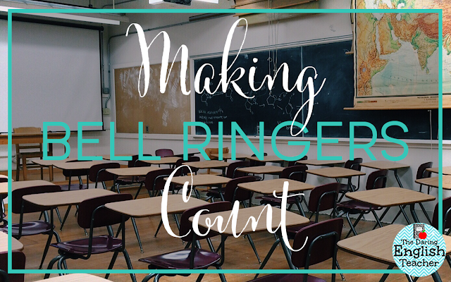 Making Bell Ringers Count in the secondary ELA classroom
