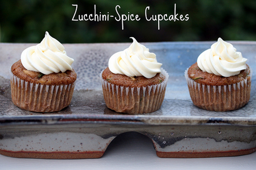 Sweet Zucchini Cupcakes with Cream Cheese Icing on twenty8divine.com