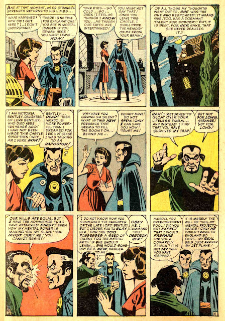 Strange Tales 114 Dr. Strange, Mordo, and Victoria Bentley
