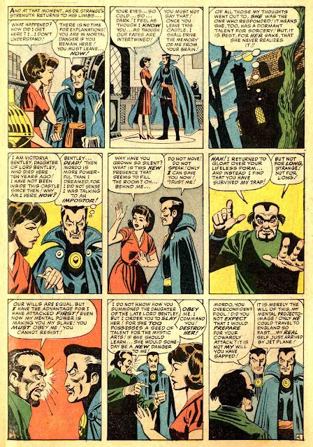 Strange Tales 114 Dr. Strange, Mordo, and Victoria Bentley