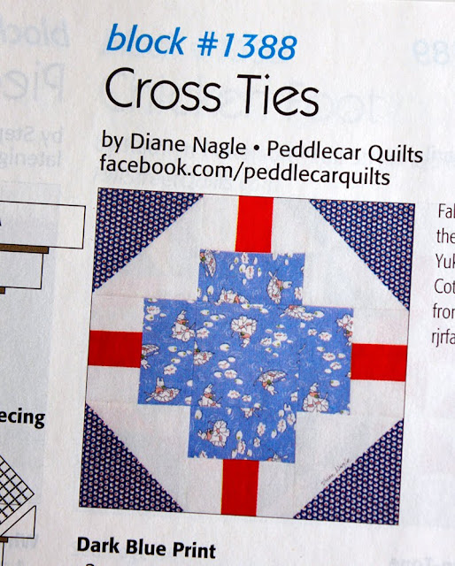 Cross Ties quilt block designed by Diane Nagle