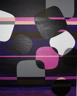 "Geometric artwork painting entitled ""Disco"" by Katherine Sauer, 2006."