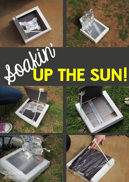 STEM Challenge: Just how long does the solar oven need to soak up the sun? Can we play on the playground while they are baking?