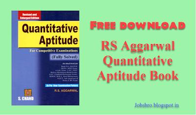 Rs Aggarwal Quantitative Aptitude Book Free Download Pdf Latest