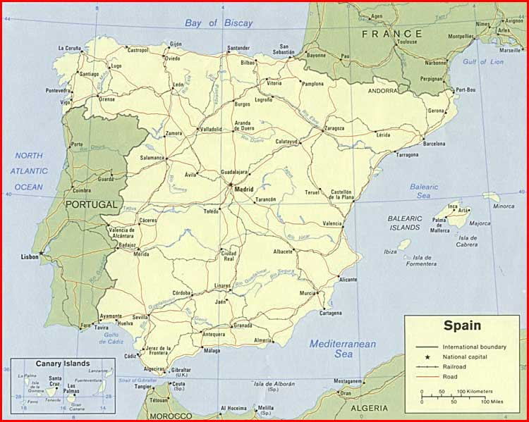 Gambar Peta politik Spanyol