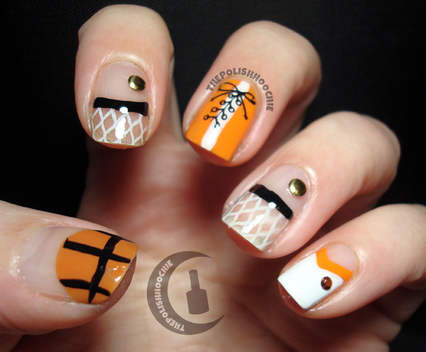 ThePolishHoochie: Let's Go Orange - NCAA March Madness Nails