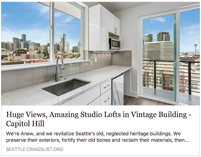 $2200 / 321ft2 - Amazing New Lofted Penthouse Studio - Huge Views - 7 or 8 Month Lease! (Capitol Hill)