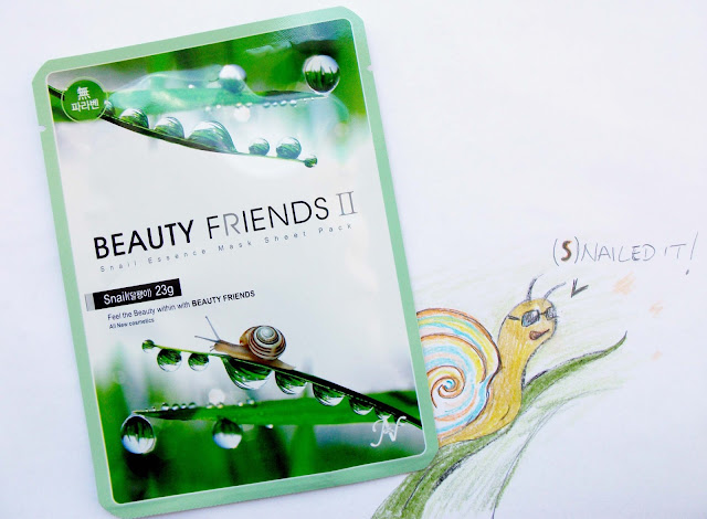 Beauty Friends II by Vanedo - Snail 23gr. Review: the sheet mask Korean trend