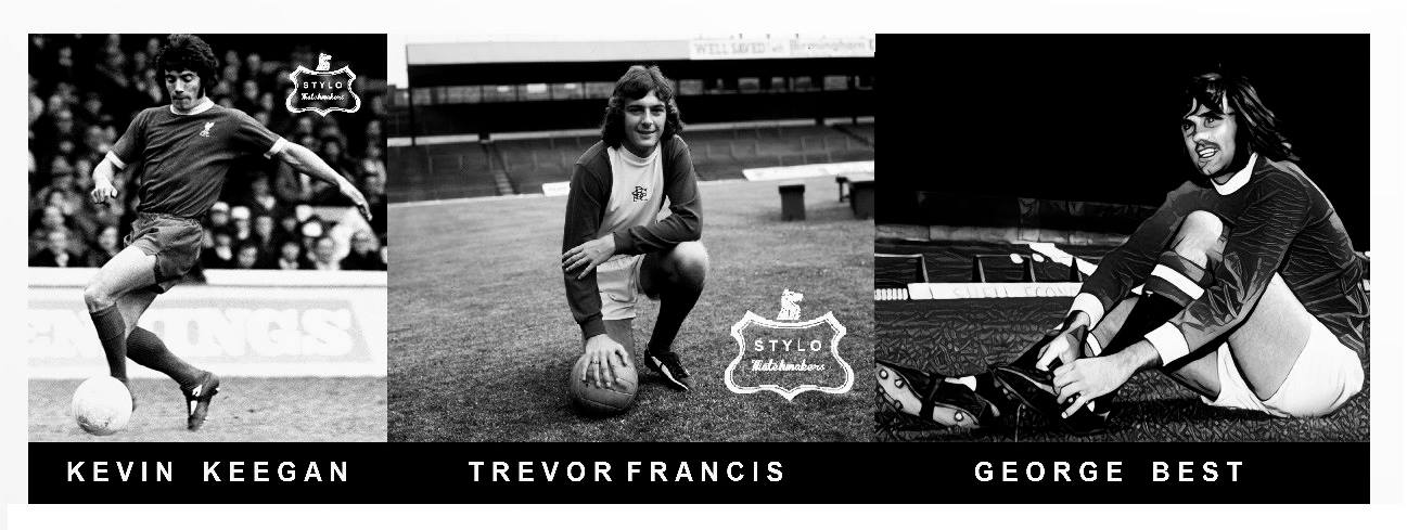 stylo matchmakers classic football boots kevin keegan trevor francis george best