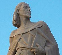 Ausiàs March , estatua , escultura,Gandía, wikipedia