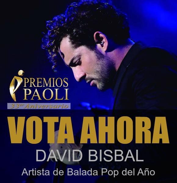 David Bisbal, Premios Paoli 2016, nominado