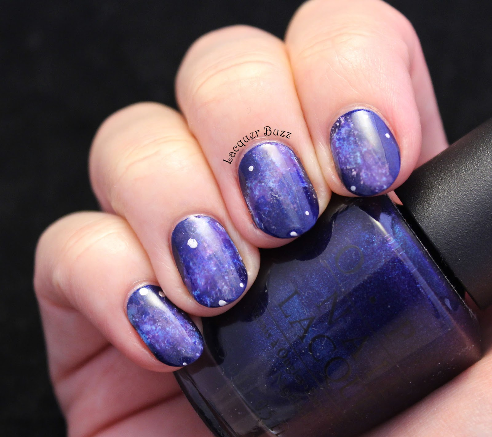 Lacquer buzz monday blues subtle galaxy as you all know galaxy nails are extremely easy to create you only need a makeup sponge or any type of sponge really i usually use sponge tip makeup solutioingenieria Gallery