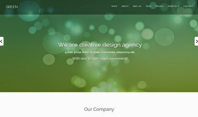 Green - one page HTML Bootstrap template
