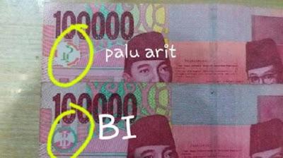 gambar uang baru ada palu arit
