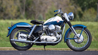 xl sportster 883 m y 1957 white and blu