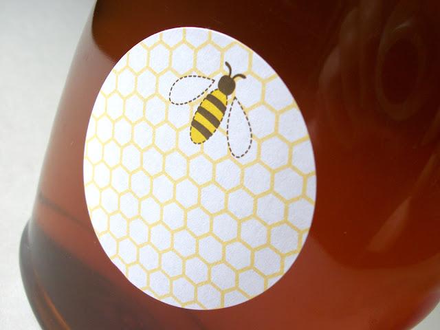 honey bottle label