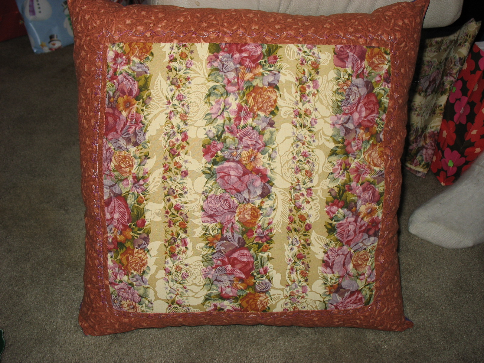 Threads of Fancy - Sewing in Alaska: Cathedral Window Pillow