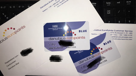 اثبات وصول بطاقتين من فنادق Danubius مجانا الى غاية باب بيتي
