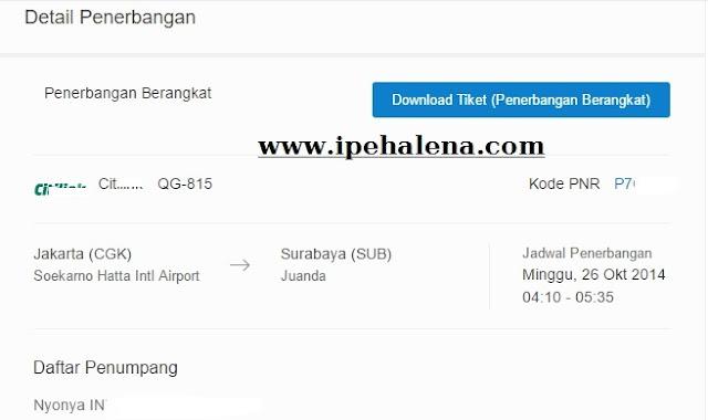 Pemesanan Tiket Traveloka