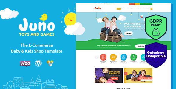 Juno v1.4 – Kids Toys & Games Store WordPress Theme