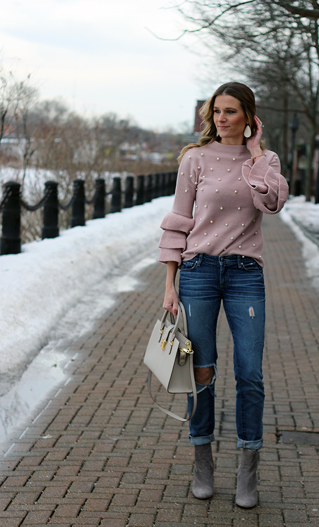 Pearl Embellished Sweater #sweater #affrordablesweater