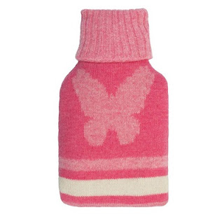Мини-грелка для тела вязаная розовая