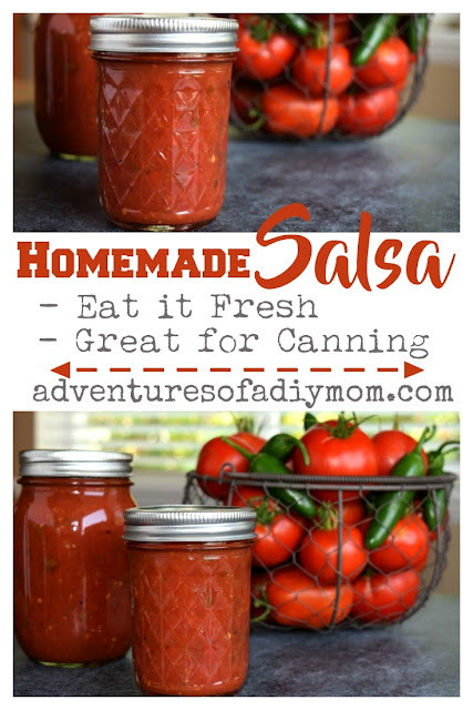 Salsa with a perfect blend of flavors, just a bit spicy and perfect for canning.