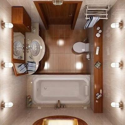 Desain kamar mandi dalam kamar tidur