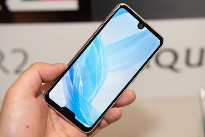 One notch on the top of the phone, One notch on the bottom
