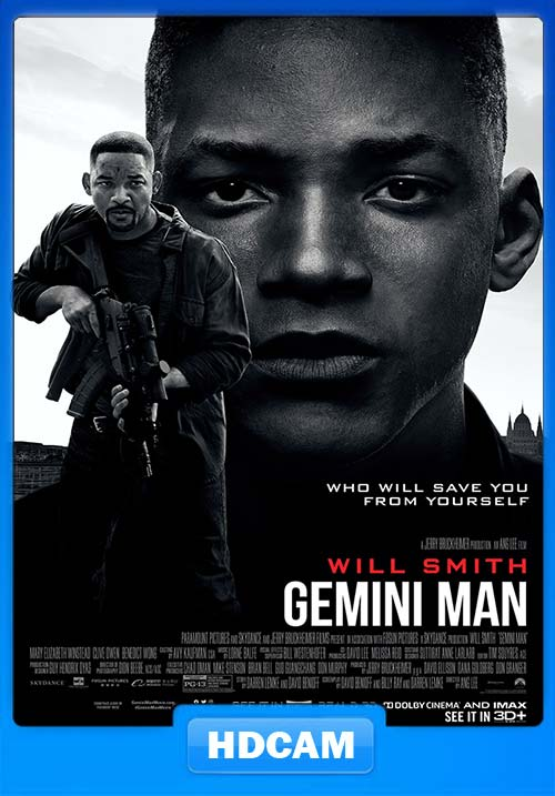 Gemini Man 2019 720p HDCAM Hindi Tamil Eng x264 | 480p 300MB | 100MB HEVC