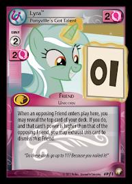 My Little Pony Lyra, Ponyville's Got Talent Equestrian Odysseys CCG Card