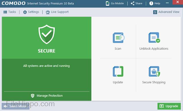 Comodo Internet Security - ứng dụng bảo mật miễn phí 2018