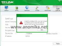 Cara mengatasi failed to configure ICS pada tp-link