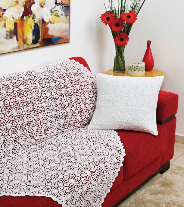 patrones gratis manta y almohadon al crochet