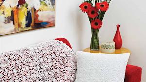 Manta y almohadón al crochet con grannys - con patrones y diagrama