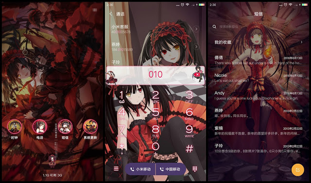 Tema Anime Xiaomi Date A Live
