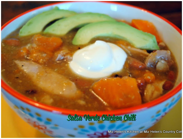 Slow Cooker Salsa Verde Chicken Chili at Miz Helen's Country Cottage