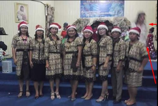 Lihat foto penampakan Yesus saat natal... Bukan edit, dan bukan rekayasa