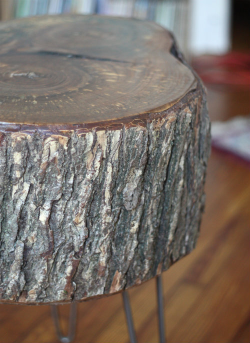 Great Handsome Natural Tree Stump Wood Tablestool Vision